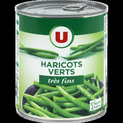 Haricots verts très fins U, boite de 440g