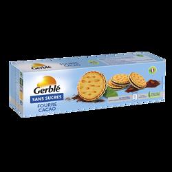Biscuit fourré au cacao sans sucre GERBLE, 185g