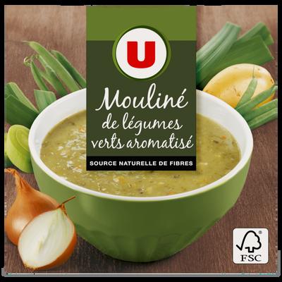 Mouliné de légumes vert U, 2 briques de 30cl, 600g