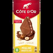 Côte d'Or Chocolat Fourré Fin Lait Praliné Croustillant Cote D'or, 155g