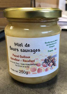 Miel de fleurs sauvages, Pascal GUILLOUX , pot en verre 250 G