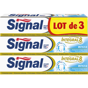 Signal Dentifrice Intégral White Signal, 3 Tubes De 75ml