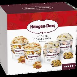Minicups de crème glacée iconic collection au caramel avec saucecaramel salé et éclats caramélisés HÄAGEN DAZS, 320g