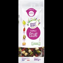 """Mélange de fruits secs """"Formule Eclat""""(noisettes,pistaches,raisins,baies goji), DACCO BELLO, sachet 200g"""