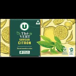 Thé vert aromatisé citron U, 25 sachets, 50g