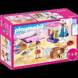 Playmobil Dollhouse - Chambre avec espace couture - 70208 - Dès 4 ans