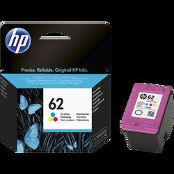 Cartouche d'encre HP pour imprimante, N°62, 3 couleurs