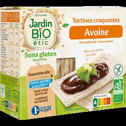 Tartines craquantes à l'avoine et riz bio JARDIN BIO 150g