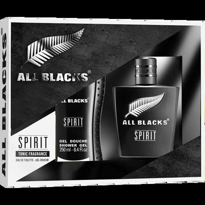 Coffret pour homme ALL BLACKS spirit edt 80ml+gel dche 250ml