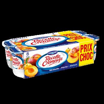 Danone Yaourt Aux Fruits Jaunes Recette Cremeuse  , 8x125g Prix Choc