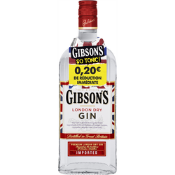 Gin GIBSON'S, 37,5°, 70cl