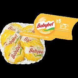Fromage au lait pasteurisé emmental 23% de matière grasse MINI BABYBEL, 6 portions soit 120g