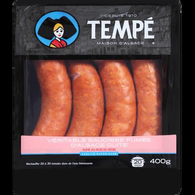Véritable suaicsse fumée d'Alsace cuite supérieure, 4x100g