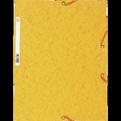 Chemise à élastique 3 rabats EXACOMPTA, 24x32 cm, carton, jaune