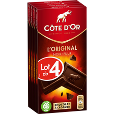Côte d'Or Chocolat Extra Noir  Tablette 4x100g