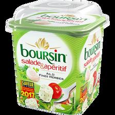 Fromage pasteurisé ail & fines herbes BOURSIN salade & apéritif,40%MG, 120g