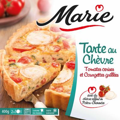 Tarte au chèvre tomates et courgettes grillées MARIE, 400g