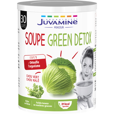 Soupe green détox chou JUVAMINE, 300g