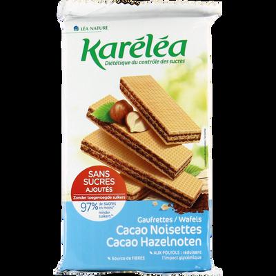 Gaufrettes four.cacao noisette avec édulcorants KARELEA 200g