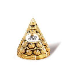 Chocolat, FERRERO ROCHER, cône de 28 unités, 350g
