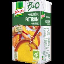 Soupe potiron carotte bio KNORR, brique de 1 litre