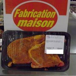 Cotes de Porc marinées TEX MEX x 2 , FABRICATION MAISON 0,350 kg env