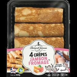 4 crêpes jambon fromage BERNARD JARNOUX CREPIER, 360g