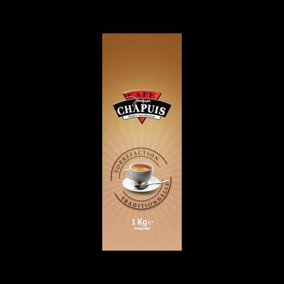 Café en grains tradition CAFE CHAPUIS, 1kg