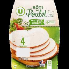 Rôti poulet fines herbes U, 4 tranches, 160g