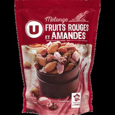 Mélange apéritif amandes et fruits rouges U, paquet de 120g