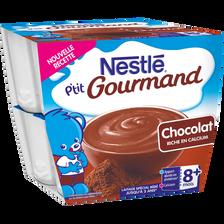 P'tit Gourmand crème dessert au chocolat Nestlé, dès 8 mois, 8x100g