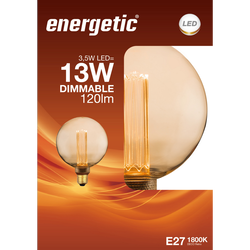 Led déci retro 13w e27 doré ENERGETIC-g125-3,5w-120ml-1800k