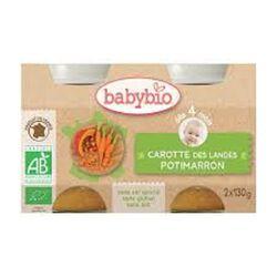Pot Carotte Potimarron BABYBIO dès 4 mois 2x130g