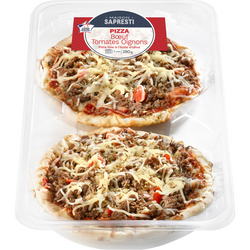 Pizza boeuf tomate oignon, 2 pièces, 280g