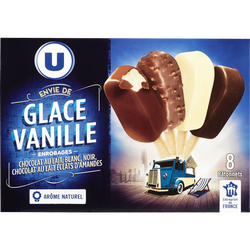 Mini bâtonnets envie de chocolat U, x8 soit 258g