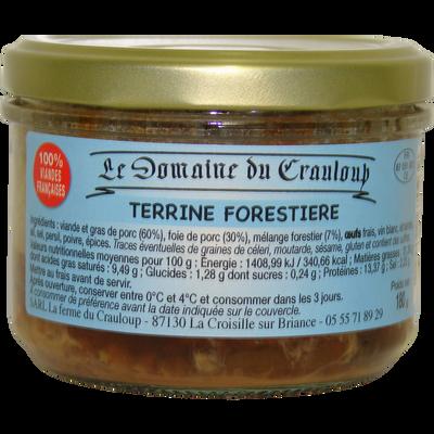 Terrine forestière LE DOMAINE DU CRAULOUP, 180g