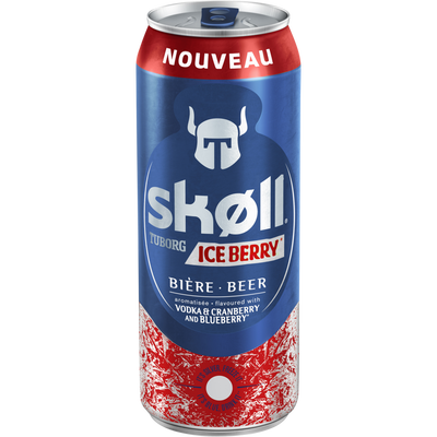 Bière can skoll ice berry TUBORG, 50cl