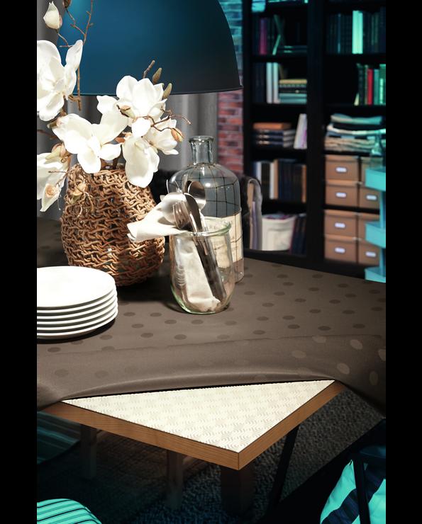 Protège table padua rond en pvc 135cm blanc-conforme reach-protège latable des chocs et des tâches