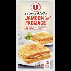 Croque à poêler au jambon et fromages, U, x2 soit 200g
