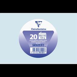 Enveloppe de visite auto adhésive FORCE 8, 90x140cm, 120g, bleu ciel,20 unités