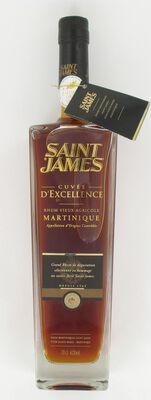 Rhum vieux agricole AOC de Martinique Cuvée Excellence SAINT-JAMES, 42°, bouteille de 70cl