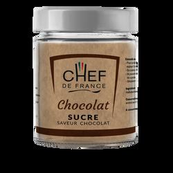 Sucre saveur chocolat CHEF DE FRANCE, pot de 160g