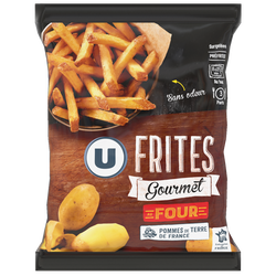 Frites gourmet surgeles U, 600g