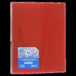 Classeur souple U, format A4, dos 40mm, rouge