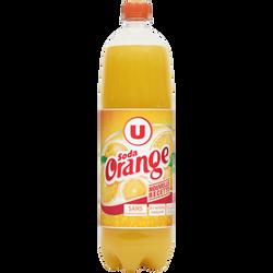 Boisson gazifiée au jus d'orange à base de concentré avec sucre etédulcorant 1,5L