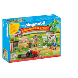 """Playmobil - Calendrier de l'Avent """"""""Animaux de la ferme"""""""" - 70189 -Dès 4 ans"""