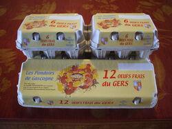 BOITES DE 12 OEUFS M FRAIS DU GERS