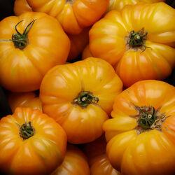 Tomate jaune, segment les côtelées, Ananas, catégorie 2, France