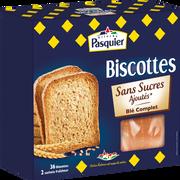Pasquier Biscottes Au Blé Complet Sans Sucre Ajouté Pasquier, Boîte De 36 Tranches, 300g