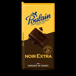 Tablette de chocolat noir extra supérieur POULAIN, 200g